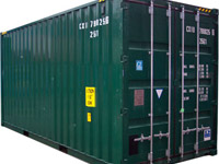 shipping container self storage unit